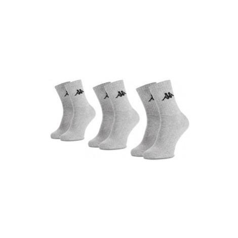 Kappa Súprava 3 párov vysokých ponožiek unisex Sonotu 704304 Sivá