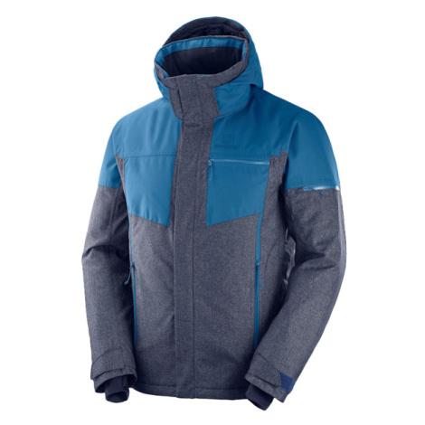 Salomon STORMSLIDE JKT šedá - Pánska lyžiarska bunda