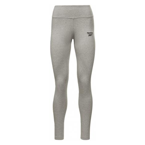 REEBOK Športové nohavice  sivá melírovaná / čierna