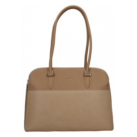 Dámska kabelka David Jones Karena - béžovo-hnedá