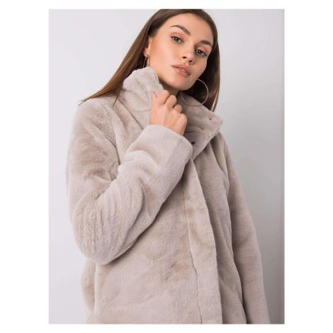 Kožušinová bunda svetlo béžovej farby