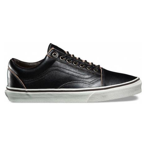 Vans Old Skool All Black Leather-5.5UK čierne VA38G1OE6-5.5UK