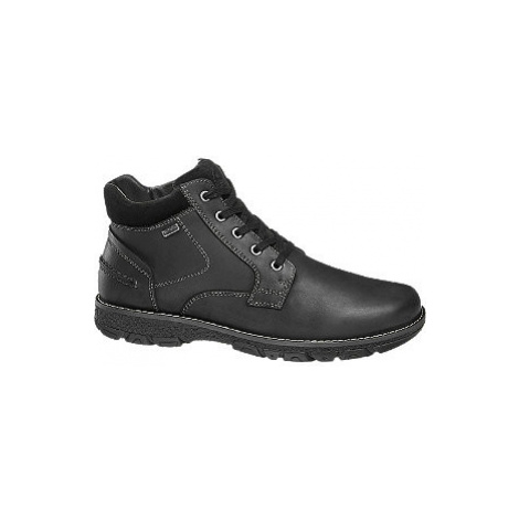 Čierna kožená komfortná členková obuv s TEX membránou Gallus