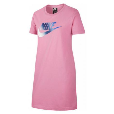 Nike NSW TSHIRT DRESS FUTURA G ružová - Dievčenské šaty