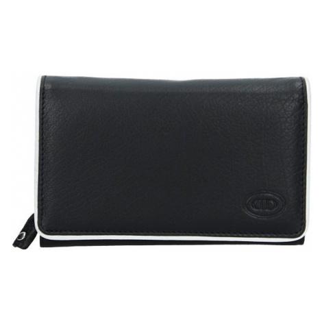 Dámska kožená peňaženka DD Anekta Dita - čierno-biela