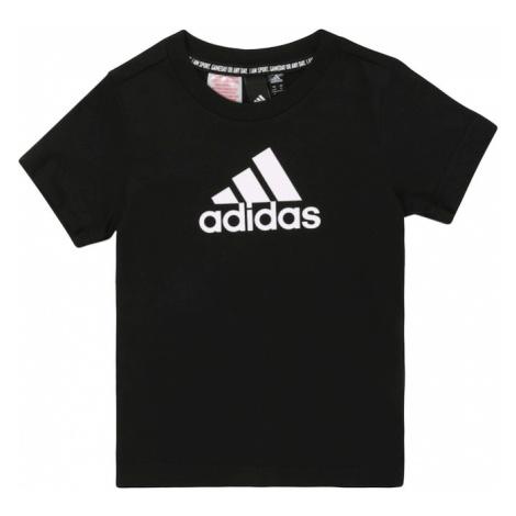 ADIDAS PERFORMANCE Funkčné tričko 'Must Have Badge of Sport'  čierna / biela