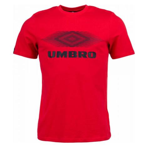 Umbro FW MOIRE GRAPHIC TEE červená - Pánske tričko