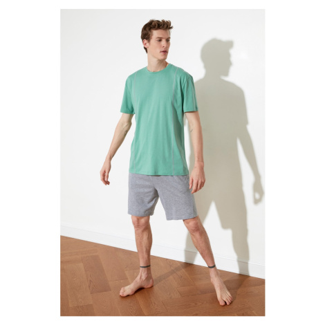 Trendyol Mint Carioca Stitched Knitted Pyjama Set