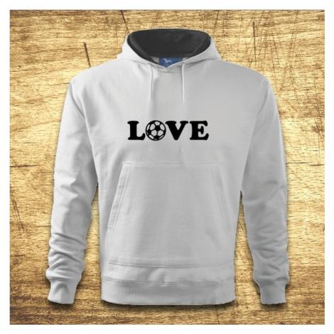 Mikina s kapucňou s motívom Love