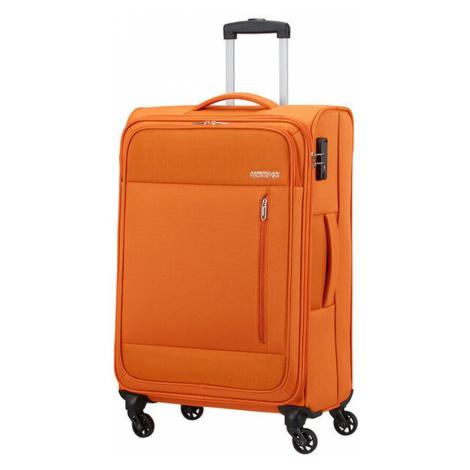 American Tourister Látkový cestovný kufor Heat Wave M 65 l - oranžová