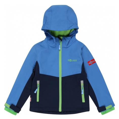 TROLLKIDS Outdoorová bunda 'KRISTIANSAND'  námornícka modrá / modrá / neónovo zelená