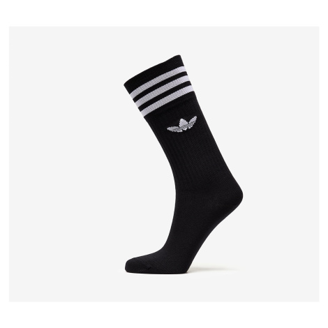adidas Solid Crew Sock 3 Pack Black/ White