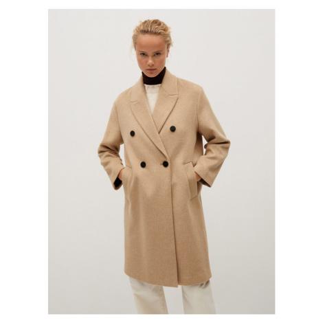 Beige wool coat Mango