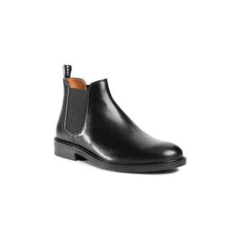 Gino Rossi Členková obuv s elastickým prvkom MI07-A962-A791-26 Čierna