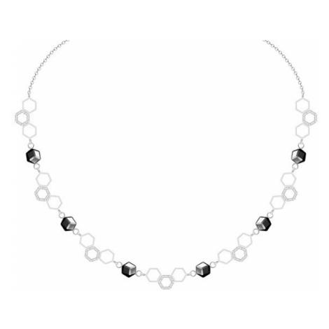 Preciosa Oceľový náhrdelník s krištáľom Honeygon 48