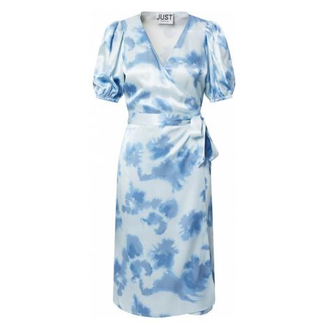 JUST FEMALE Šaty 'Laguni'  modrá / biela