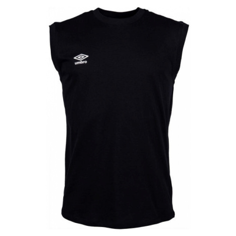 Umbro SMALL LOGO COTTON VEST čierna - Pánske tričko