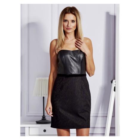 Black dress with lace module