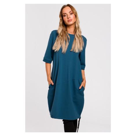 Tyrkysové šaty M451 Moe