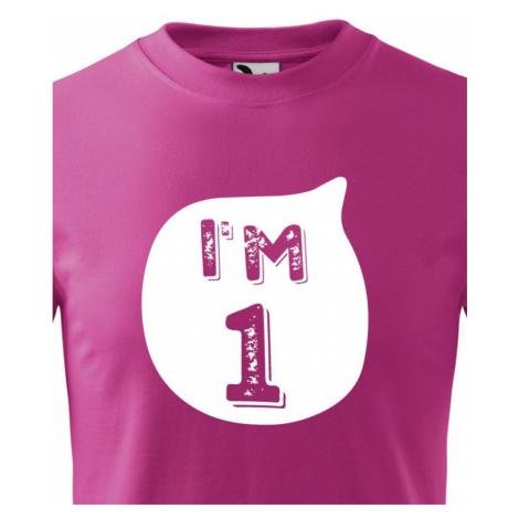 Detské tričko k narodeninám I´M ONE - štylový darček pre malého oslávenca