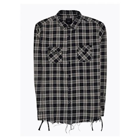 GATE Károvaná košeľa s neopracovaným spodným lemom