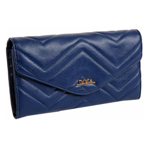 Dámska peňaženka Doca 65016 - modrá