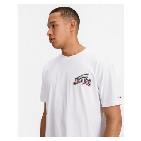 Tommy Jeans Diamond Back Logo Tričko Biela Tommy Hilfiger