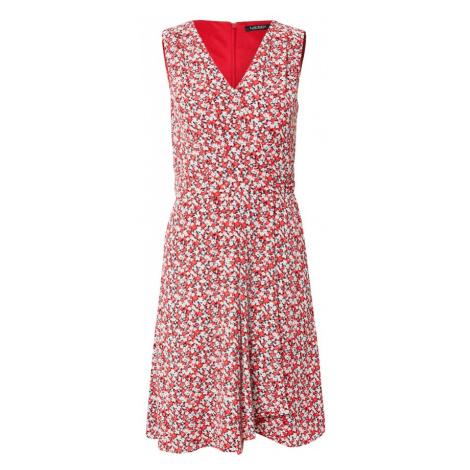 Lauren Ralph Lauren Šaty 'ELNA'  červená / biela / námornícka modrá