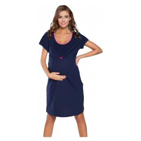 Tehotenská nočná košeľa Dagna 2 ružový lem Italian Fashion