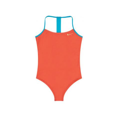 NIKE Bikiny Solid Girl II NESS9629 Oranžová