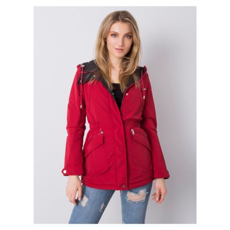 Červená prechodná bunda