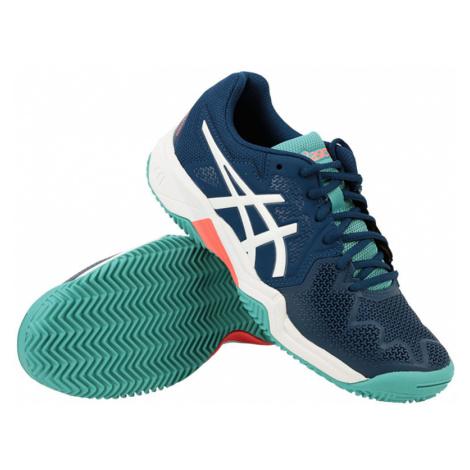 Detská tenisová obuv Asics Gel-Resolution 8 GS Clay Blue/White