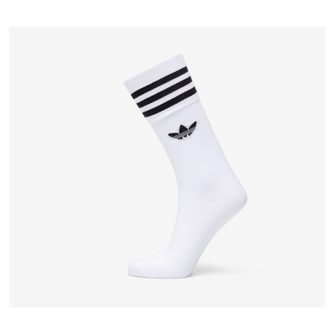 adidas Solid Crew Sock 3-Pack White/ Black