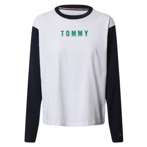 Tommy Hilfiger Underwear Tričká na spanie  tmavomodrá / biela