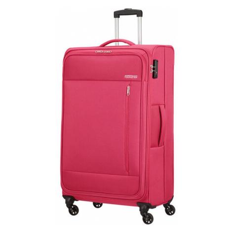 American Tourister Látkový cestovný kufor Heat Wave L 92 l - růžová