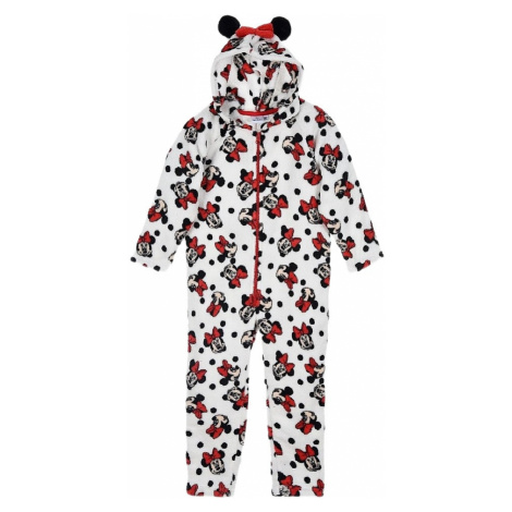 Disney minnie mouse dievčenské biele pyžamo