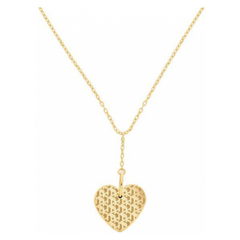 Tommy Hilfiger Pozlátený náhrdelník s príveskom srdca TH2780288