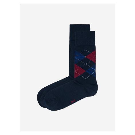 Check Ponožky 2 páry Tommy Hilfiger Modrá