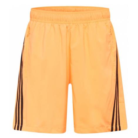 ADIDAS PERFORMANCE Športové nohavice  oranžová / čierna