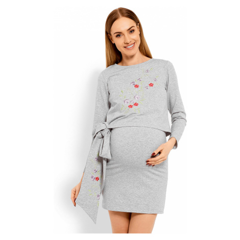 Svetlosivé tehotenské šaty 1624C PeeKaBoo