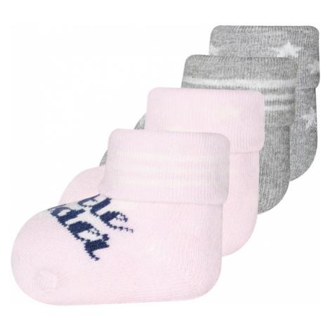 EWERS Ponožky 'Little wonder'  ružová / sivá melírovaná / svetlosivá / tmavomodrá