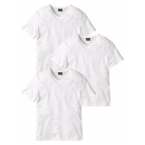 Tričko s V-výstrihom (3 ks) bonprix