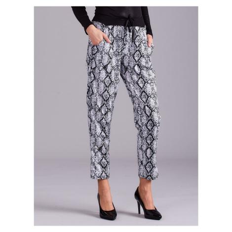 Vzorované 7/8 nohavice s elastickým pásom