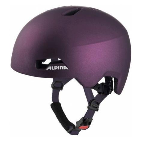 Alpina Sports HACKNEY fialová - Detská cyklistická prilba