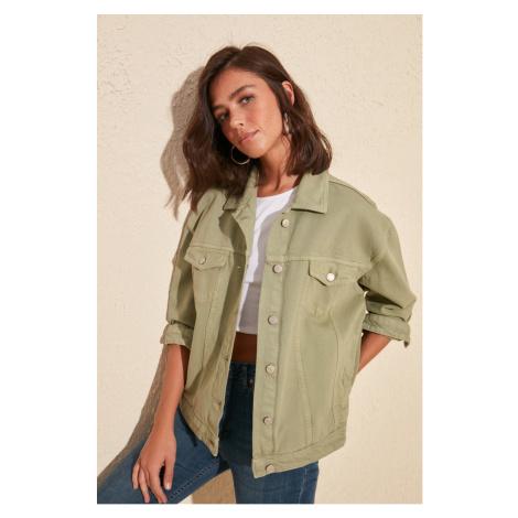 Trendyol Khaki Basic Denim Jacket