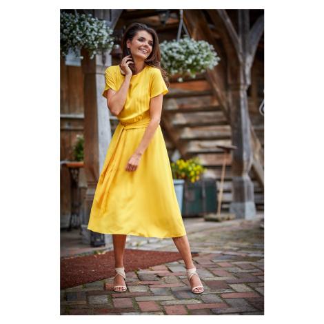 Žlté šaty A296 Awama