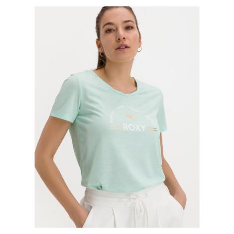 Mentolové tričko s potlačou Roxy