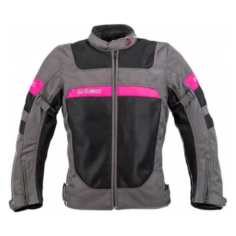 Dámska letná moto bunda W-TEC Monaca Farba Black Mesh-Pink