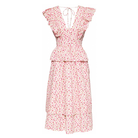 Y.A.S Letné šaty 'MUNLA'  biela / ružová / žltá / zelená