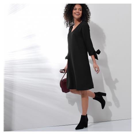 Blancheporte Šaty s kontrastným lemovaním čierna